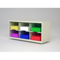 """Charnstrom Mail Sorter and Office Organizer is 36""""W X 12-3/4""""D Sorter with 6 Pockets, 11-1/2"""" Wide"""