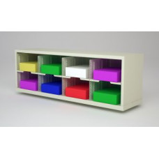 "Mail Room Furniture or Office Organizer - 48""W X 12-3/4""D  Mail Sorter with 8 Pockets, 11-1/2"" Wide"