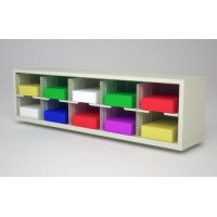 "Mail Room - Office Organizing Furniture 60""W x 12-3/4""D Sorter with 10 Pockets, 11-1/2"" Wide"