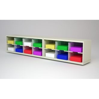 """Mail Room Furniture and Office Organizer - 84"""" W x 12-3/4""""D Sorter with 14 Pockets, 11-1/2"""" Wide"""