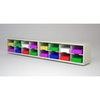 """Mail Room Furniture and Office Organizer - 96""""W x 12-3/4""""D Sorter with 16 Pockets, 11-1/2""""Wide"""