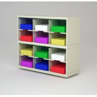 "Mail Room Furniture and Office Organizer - 36""W X 15-3/4""D Sorter with 12 Pockets, 11-1/2"" Wide"