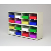 "Mail Room Furniture and Office Organizer - 48""W X 12 3/4""D Sorter with 16 Pockets, 11-1/2""Wide"