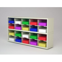 "Mail Room Furniture and Office Organizer - 60""W x 15-3/4""D Sorter with 20 Pockets, 11-1/2""W Shelves"