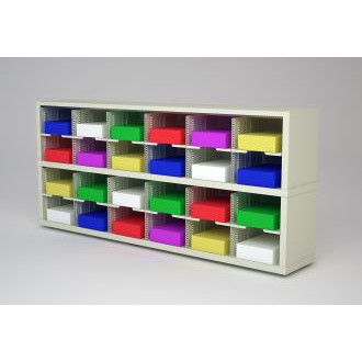 "Mail Room Furniture and Office Organizer - 72""W x 12-3/4""D Sorter with 24 Pockets, 11-1/2"" Wide"