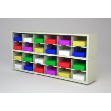 "Mail Room Furniture and Office Organizer - 72""W x 15-3/4""D Sorter with 24 Pockets, 11-1/2"" Wide"
