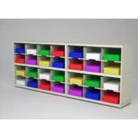 "Mail Room Furniture and Office Organizer - 84"" W x 15-3/4""D Sorter with 28 Pockets, 11-1/2"" Wide"