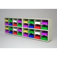 "Mail Room Furniture and Office Organizer - 96""W x 15-3/4""D Sorter with 32 Pockets, 11-1/2"" Wide"