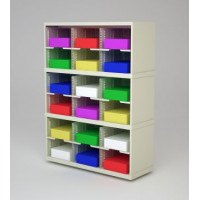 "Mail Room Furniture and Office Organizer - 36""W x 12-3/4""D Sorter with 18 Pockets, 11-1/2""W"