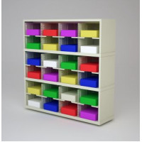 "Mail Room Furniture and Office Organizer - 48""W x 12-3/4""D Sorter with 24 Pockets, 11-1/2"" Wide"