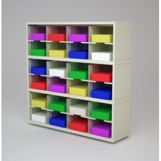 """Mail Room Furniture and Office Organizer - 48""""W x 15-3/4""""D Sorter with 24 Pockets, 11-1/2"""" Wide"""