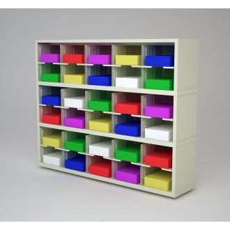 "Mail Room Furniture and Office Organizer - 60""W x 15-3/4""D Sorter with 30 Pockets, 11-1/2"" Wide"
