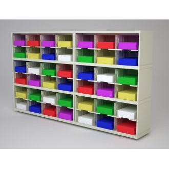 "Mail Room Furniture and Office Organizer - 84""W x 12-3/4""D Sorter with 42 Pockets, 11-1/2"" Wide"