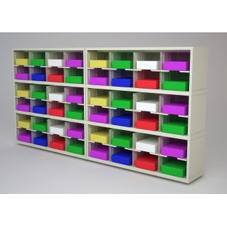 "Mail Room Furniture or Office Organizer - 96""W X 12 3/4""D Sorter with 48 Pockets, 11-1/2"" Wide"