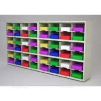 "Mail Room Furniture and Office Organizer - 96""W x 15-3/4""D Sorter with 48 Pockets, 11-1/2"" Wide"