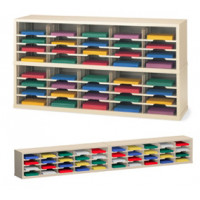 "Mail Room Furniture or Office Organizer - 60""W x 15-3/4""D, 40 Pocket Sorter with 11-1/2""W Shelves"