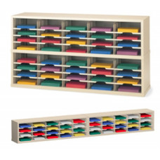 "Mail Room Furniture and Office Organizer - 60""W x 12-3/4""D, 40 Pocket Mail Sorter with 11-1/2""W Shelves"