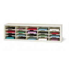 "Mail Room Furniture and Office Organizer - 60""W X 12-3/4""D, 20 Pocket Mail Sorter with 11-1/2""W Shelves"