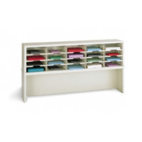 "Mail Room Furniture or Office Organizer - 60""W x 15-3/4""D, 20 Pocket Sorter with 11-1/2""W Shelves and Enclosed Riser"