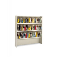 "Mail Sorter and Office Organizer - 60""W X 12-3/4""D- 57 Vertical Pockets with Enclosed Riser"