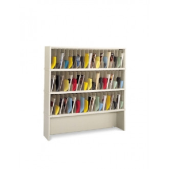 "Mail Room Furniture or Office Organizer - 60""W x 15-3/4""D, 57 Pocket Vertical Sorter with Enclosed Riser"