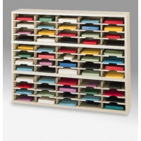 "Mail Room Furniture and Office organizer - 60""W X 15-3/4""D, 60 Pocket Sorter with 11-1/2""W Shelves"