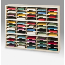 "Mailroom Furniture and Office organizer - 60""W x 12-3/4""D, 60 Pocket Sorter with 11-1/2""W Shelves"