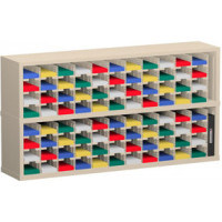 "Mail Room Furniture or Office Organizers - 60""W x 12-3/4""D, 88 Pocket Sorter with 5""W Shelves"