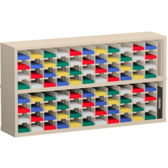 """Mail Room Furniture or Office Organizers - 60""""W x 12-3/4""""D, 88 Pocket Sorter with 5""""W Shelves"""