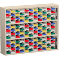 "Mail Room Furniture and Office Organizer - 60""W x 12-3/4""D, 132 Pocket Sorter with 5""W Shelves"
