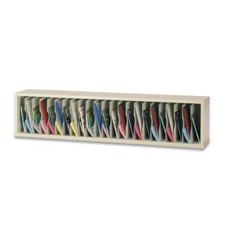 "Mail Room Furniture or Office Organizer - 72""W x 12-3/4""D, 23 Pocket Vertical Sorter"