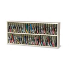 "Mail Room Funiture or Office Organizer - 72""W x 12-3/4""D, 46 Pocket Vertical Sorter"