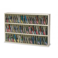 "Mail Room Furniture or Office Organizer - 72""W x 12-3/4""D, 69 Pocket Vertical Sorter"