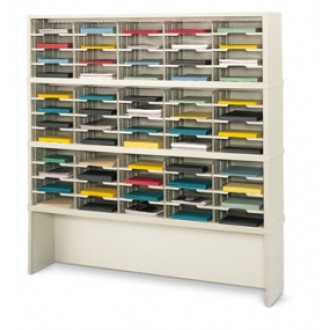 """Mail Room Furniture or Office Organizer - 60""""W x 15-3/4""""D, 60 Pocket Sorter with Riser"""
