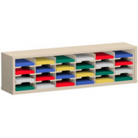 "Mail Room Furniture or Office Organizer - 60""W x 12-3/4""D, 24 Pocket Sorter with 9-1/2""W Shelves"