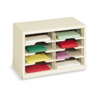 "Mail Room Sorter and Office Organizer - 25""W x 12-3/4""D, 8 Pocket Sorter with 11-1/2""W Shelves"