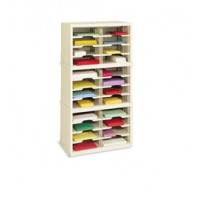 "Mail Room Furniture and Office Organizer - 25""W x 12-3/4""D, 24 Pocket Sorter with 11-1/2""W Shelves"
