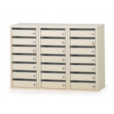 Mail Room Furniture 21 Door Locking Office Security Mail Station with 2 Different Lock Styles to Choose