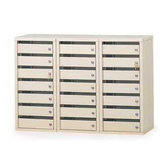 Mail Room Furniture 21 Door Office Security Mail Station with 3 Different Lock Styles to Choose