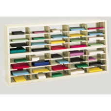 "Mail Room Sorter and Office Organizer - 60""W Open Back Double Sorter, 40 Pockets, Letter Depth"