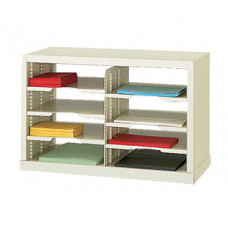 "Mail Room Sorter or Office Organizer - 25""W Open Back Single High Sorter, 8 Pockets, Letter Depth"