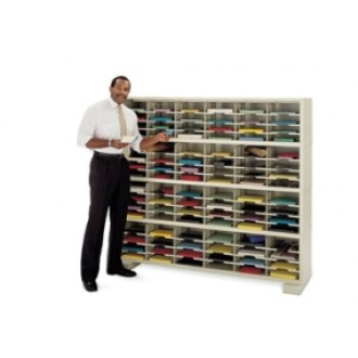 """Mail Room Console 72""""W X 12-3/4""""D, 96 Pocket Sorter with 11- 1/2""""W Shelves"""