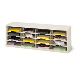 """Mail Room Console 48""""W x 12-3/4""""D, 16 Pocket Sorter with 11-1/2""""W Shelves"""