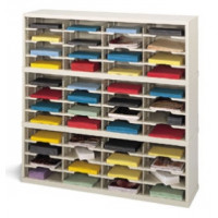 "Mail Room Sorter or Office Organizer 48""W x 15-3/4""D, 48 Pocket Sorter with 11 1/2""W Shelves"