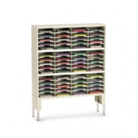 "Office Organizer or Mail Room Furniture 48""W x 15-3/4""D, 60 Pocket Sorter with Riser and 11-1/2""W Shelves"
