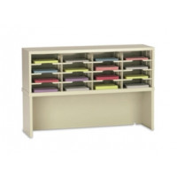 "Mail Console and Office Organizer 48""W x 12-3/4""D, 16 Pocket Sorter with Riser and 11-1/2""W Shelves"