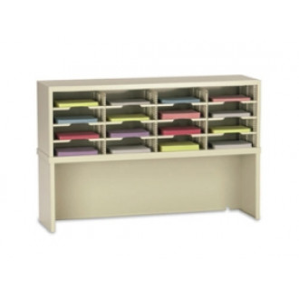 "Office Organizer or Mail Room Sorter 48""W x 15-3/4""D, 16 Pocket Sorter with Riser and 11-1/2""W Shelves"