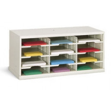 "Office Organizer or Mail Room Sorter 36""W X 12-3/4""D, 12 Pocket Sorter with 11-1/2""W Shelves"