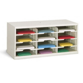 "Office Organizer or Mail Room Sorter 36""W x 15-3/4""D, 12 Pocket Sorter with 11-1/2""W Shelving"