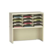 "Office Organizer and Mail Room Sorter 36""W x 15-3/4""D, 12 Pocket Sorter with Riser and 11-1/2""W Shelves"